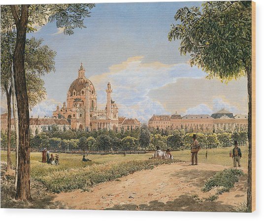 Views Of The Karlskirche And The Polytechnic Institute Wood Print
