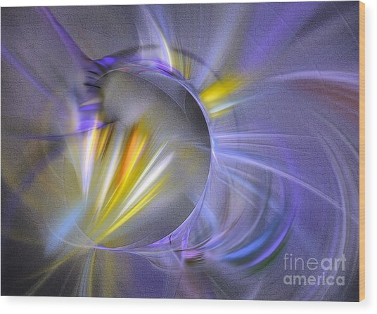 Wood Print featuring the digital art Vigor - Abstract Art by Sipo Liimatainen