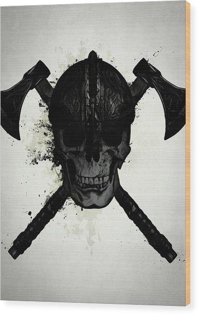 Viking Skull Wood Print