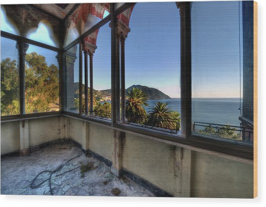 Villa Of Windows On The Sea - Villa Delle Finestre Sul Mare II Wood Print