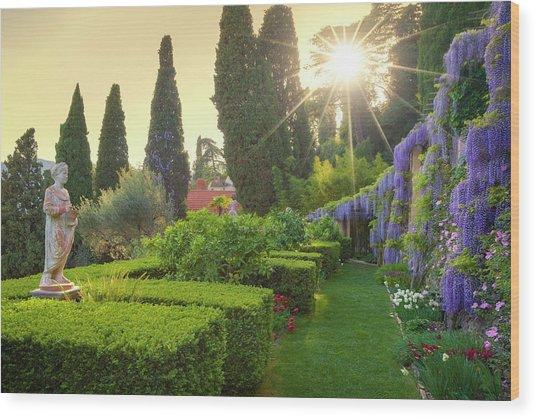 Villa Pergola Wood Print