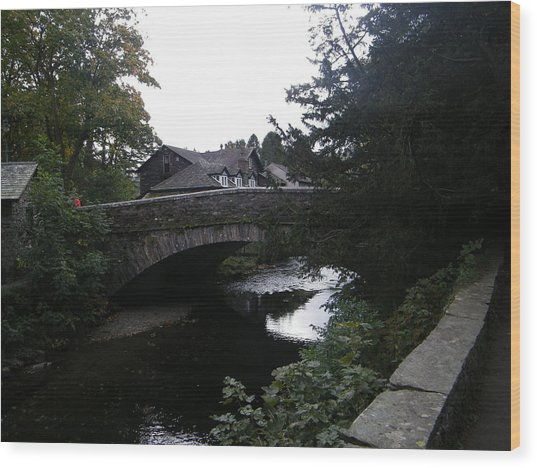 Village Bridge Wood Print