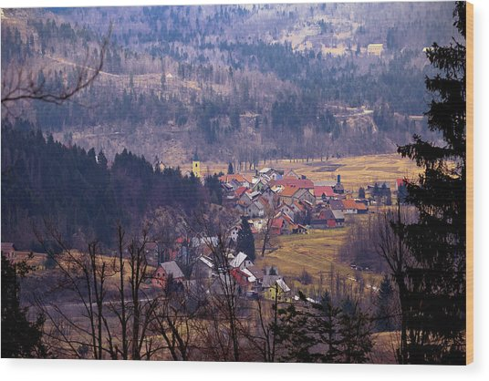 Village Of Lokve In Gorski Kotar  Wood Print
