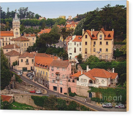 Village Of Sintra Wood Print