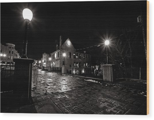 Village Walk Wood Print