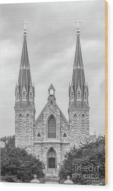 Villanova University St. Thomas Of Villanova Church Wood Print