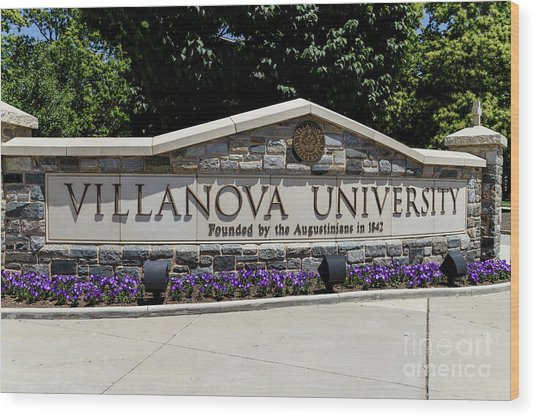 Villanova Wood Print