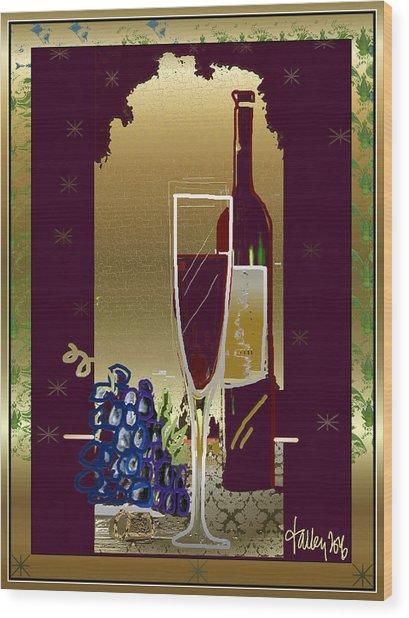 Vin Pour Une Wood Print