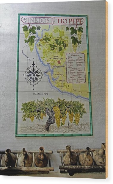 Vinedos Tio Pepe - Jerez De La Frontera Wood Print