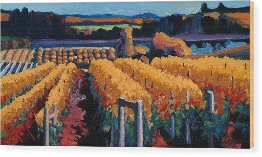 Vineyard Light Wood Print