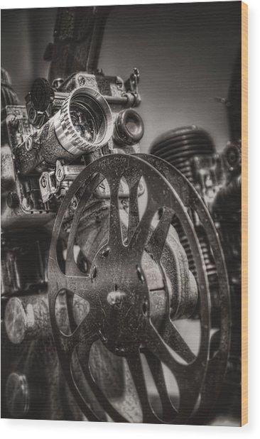 Vintage 16mm Wood Print