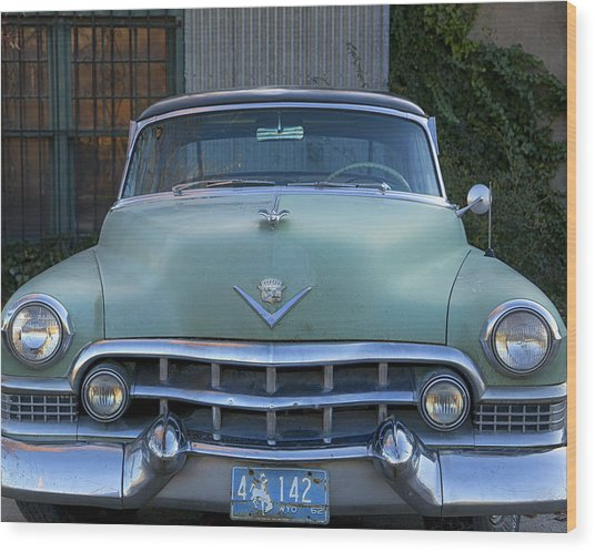 Wood Print featuring the photograph Vintage 1950s Cadillac by Gigi Ebert