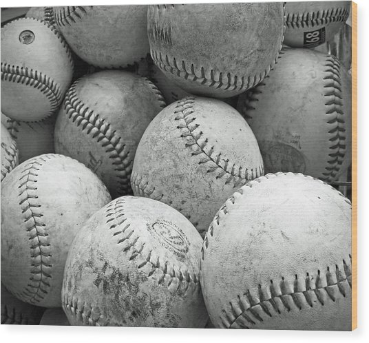 Vintage Baseballs Wood Print