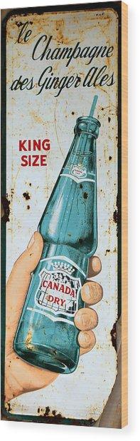 Vintage Canada Dry Sign Wood Print