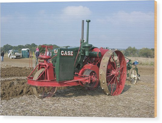 Vintage Case Tractor Wood Print by Gerry Walden