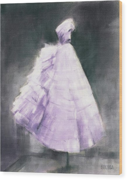 Vintage Chic Lavender And Gray Wood Print by Beverly Brown