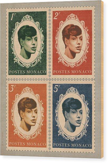 Vintage Deja Vu Wood Print