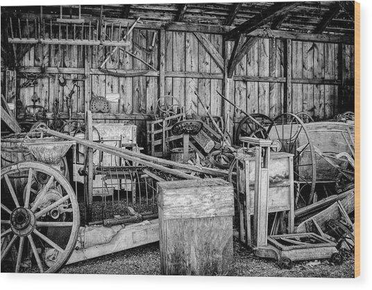 Vintage Farm Display Wood Print