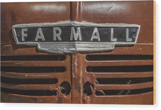 Vintage Farmall Tractor Wood Print