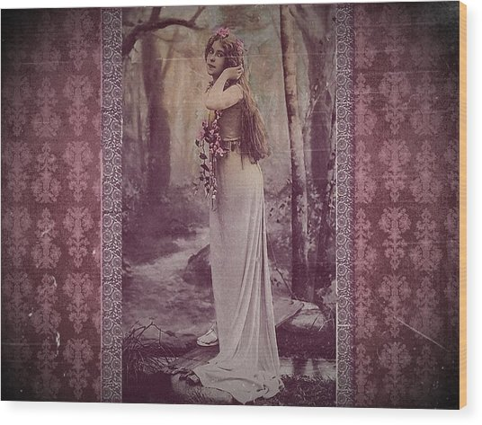 Vintage Femme Fatale Wood Print