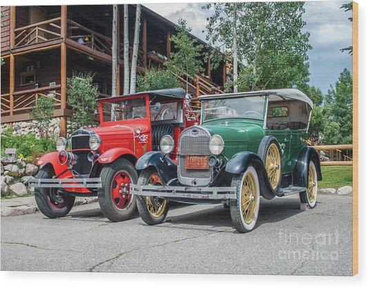 Vintage Ford's Wood Print