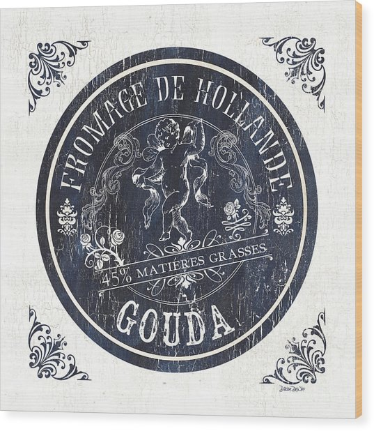Vintage French Cheese Label 1 Wood Print