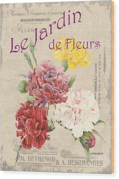 Vintage French Flower Shop 4 Wood Print
