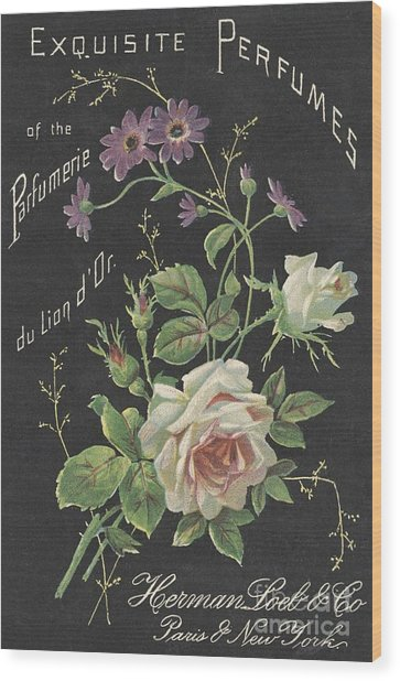 Vintage French Perfume  Wood Print