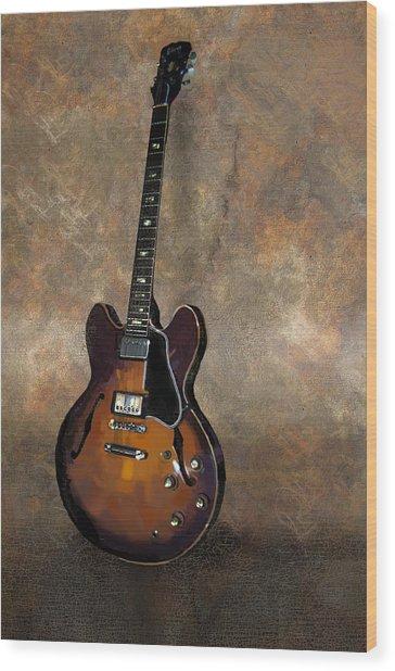 Vintage Gibson 335 Electric Guitar Wood Print by Bradford Adams