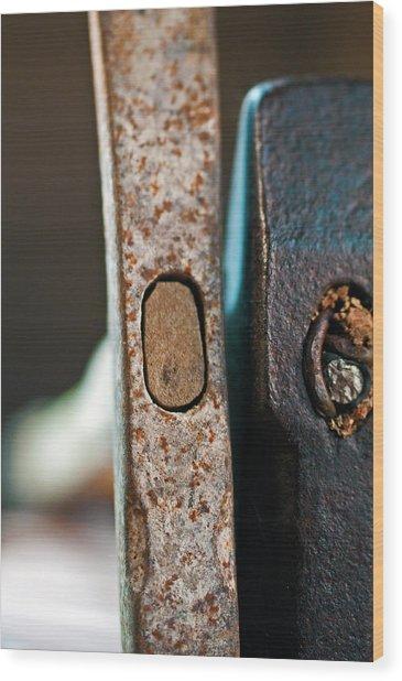Vintage Hammers Wood Print by Wilma  Birdwell