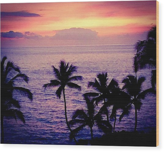 Vintage Hawaii Wood Print