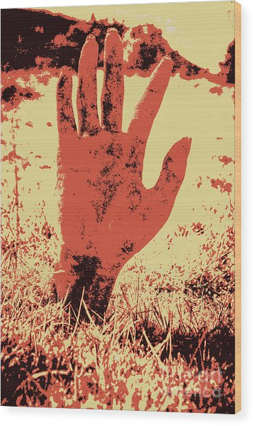 Vintage Horror Poster Art  Wood Print