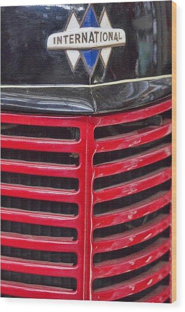 Vintage International Truck Wood Print