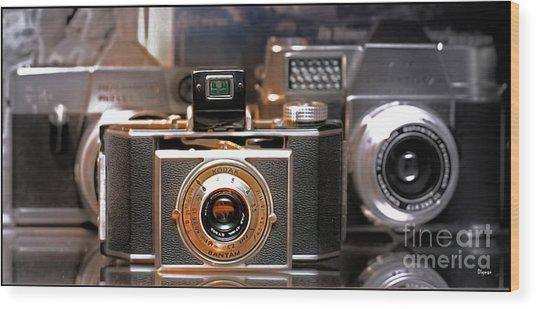Vintage Kodak Bantam Wood Print by Steven Digman