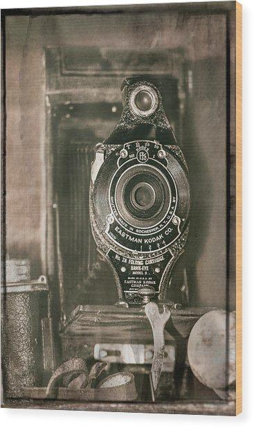 Vintage Kodak Camera Wood Print