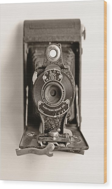Vintage Kodak Camera Wood Print