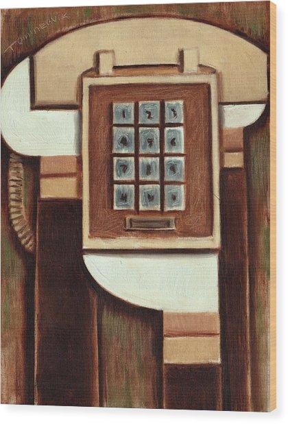 Tommervik Vintage Landline Phone Art Print Wood Print
