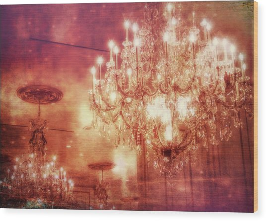 Vintage Light Wood Print by JAMART Photography