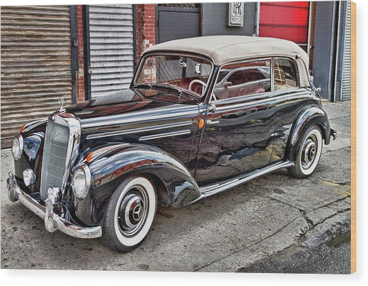 Vintage Mercedes Beauty Shot Wood Print