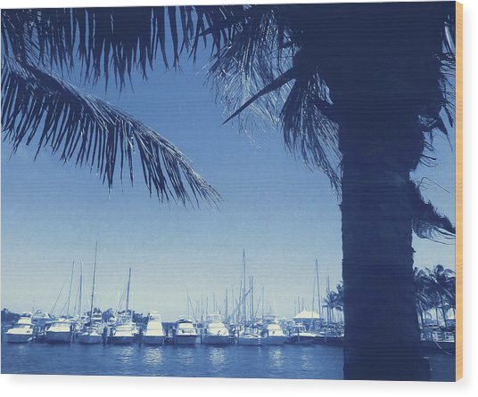 Vintage Miami Wood Print by JAMART Photography