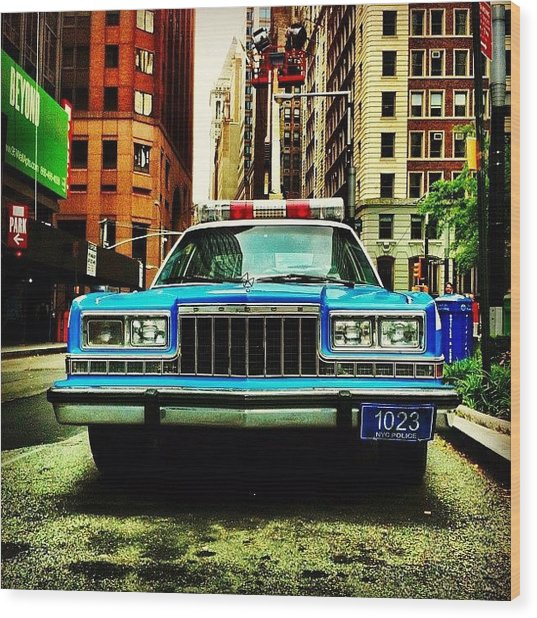 Vintage Nypd. #car #nypd #nyc Wood Print