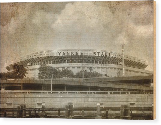 Vintage Old Yankee Stadium Wood Print