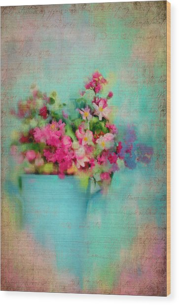 Flowers From A Cottage Garden Wood Print