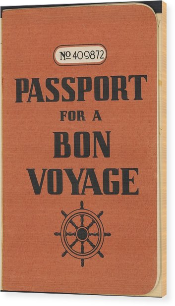 Vintage Passport Wood Print