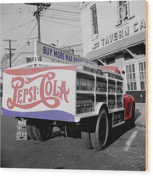 Vintage Pepsi Truck Wood Print