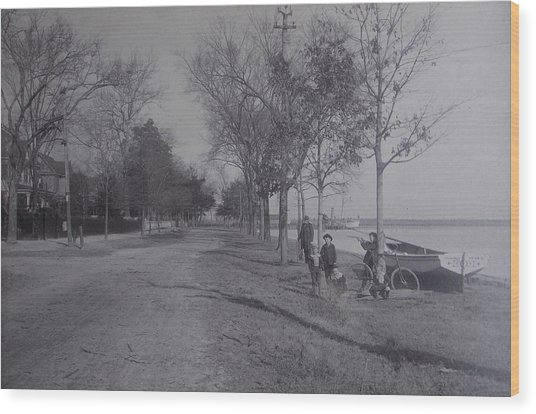 Vintage Photograph 1902 Front Street New Bern Nc Wood Print
