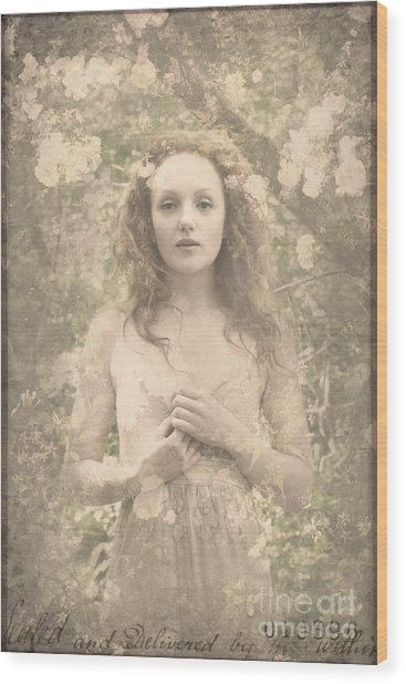Vintage Portrait Wood Print