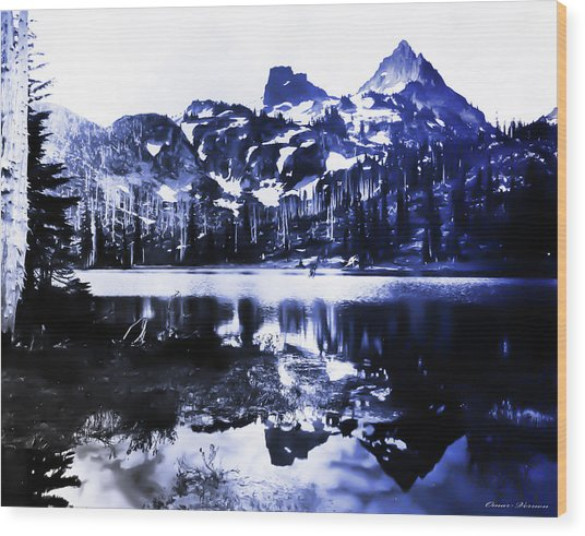 Vintage Reflection Lake  With Ripples Early 1900 Era... Wood Print