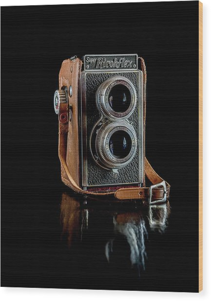 Vintage Ricohflex Camera Wood Print