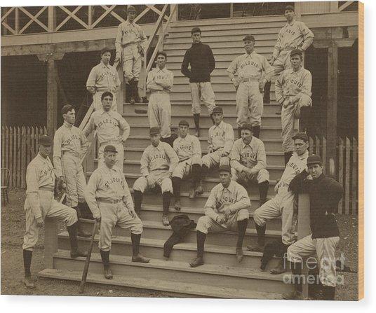 Vintage Saint Louis Baseball Team Photo Wood Print